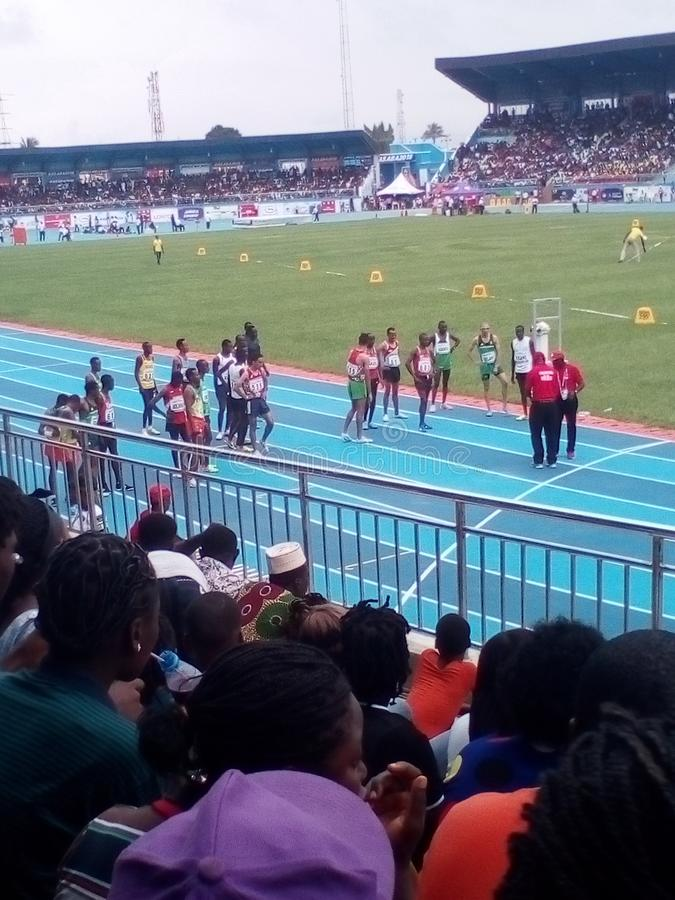 Asaba2018 stadium. The just concluded African senior athletics competition in delta state, Nigeria royalty free stock photo