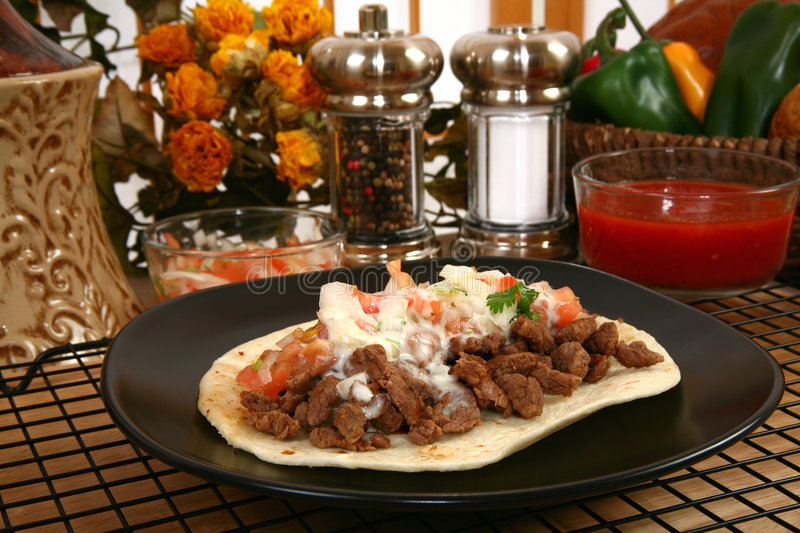 Asada de carne de Tacos photo stock