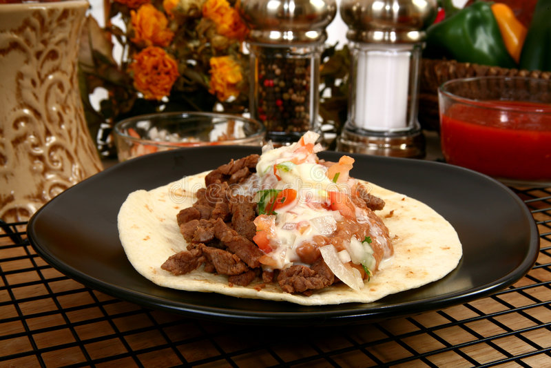 Asada do carne do Tacos imagem de stock royalty free