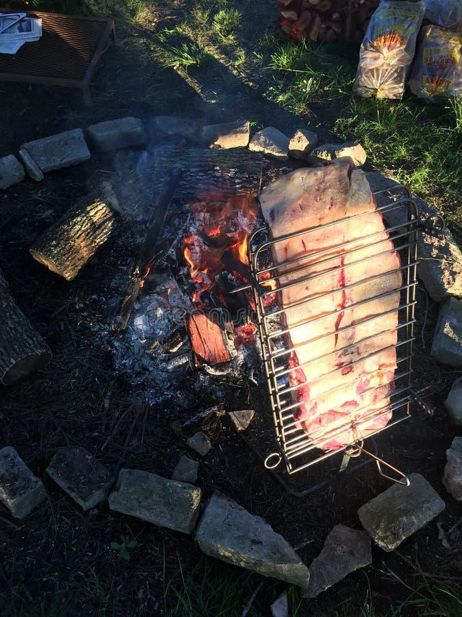 Asado de campo/barbecue della campagna - pampa fotografia stock libera da diritti
