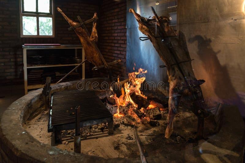 Asado DE Cordero in Gr Calafate, Argentinië royalty-vrije stock foto