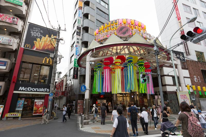 Asagaya Tanabata festival i Tokyo, Japan arkivfoto