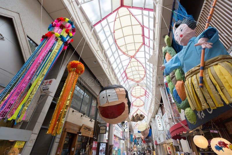Asagaya Tanabata festiwal w Tokio, Japonia obraz royalty free