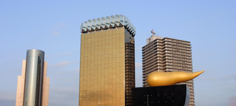Asahi-Bier-Welt-Headquarters in Tokyo lizenzfreie stockfotos