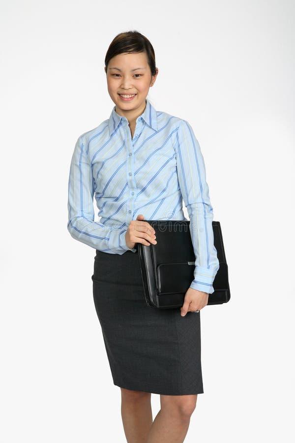 Asain Businesswoman smiling royalty free stock photo
