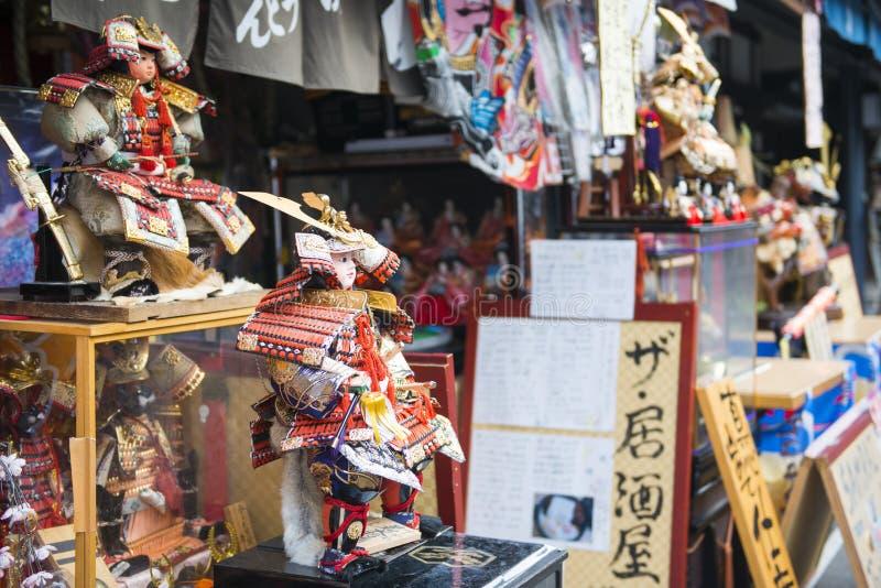 Asakura - le Japon, le 18 février 2016 : : Étable antique de Japonais de poupées photo libre de droits