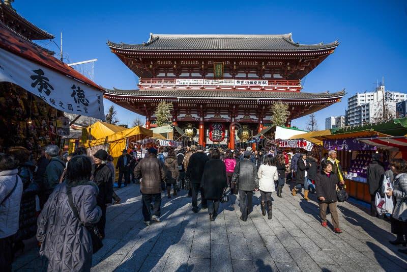 Asakusa świątynia Japonia, Tokio - obrazy royalty free