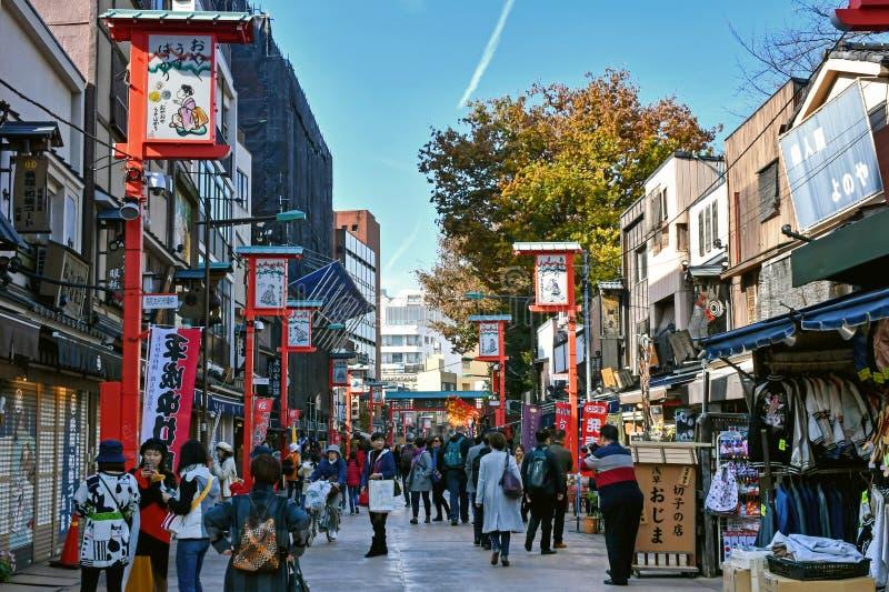Asakusa-Einkaufsstraßen, Tokyo, Japan stockfoto