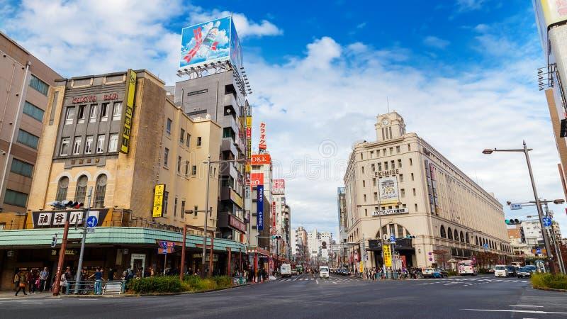 Asakusa station fotografering för bildbyråer