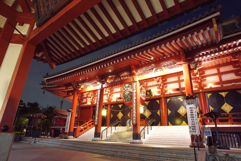 Asakusa-Tempel in Tokyo Japan lizenzfreies stockbild