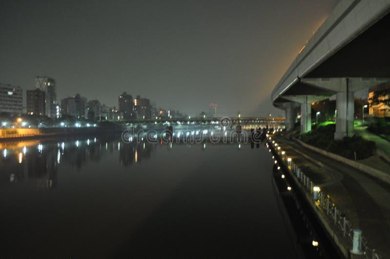Asakusa vid natt arkivbilder