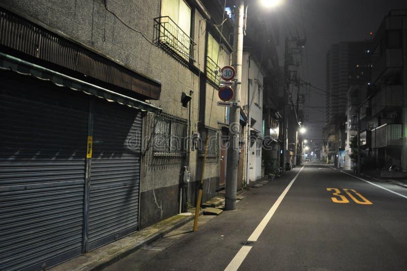 Asakusa vid natt 2 arkivbild