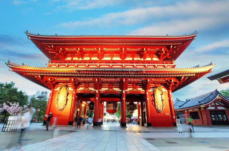 Asakusatempel met pagode, Tokyo, Japan royalty-vrije stock foto