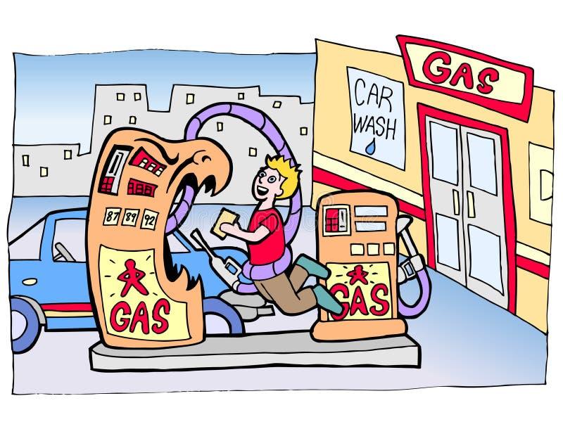 Asalto de la bomba de gas stock de ilustración