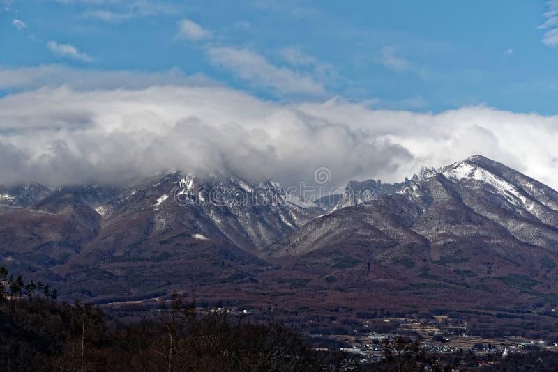 Asamayama,其中一个最大的火山在日本8,340英尺 库存图片