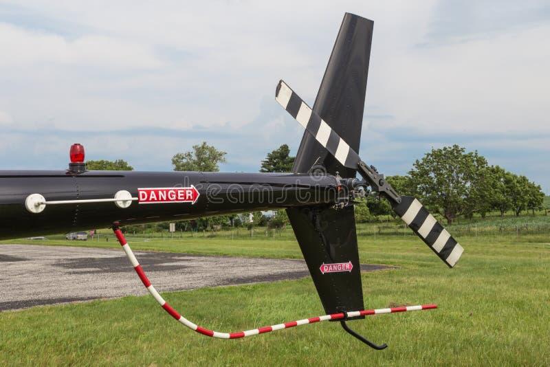 Asamblea de rotor de cola del helicóptero fotos de archivo