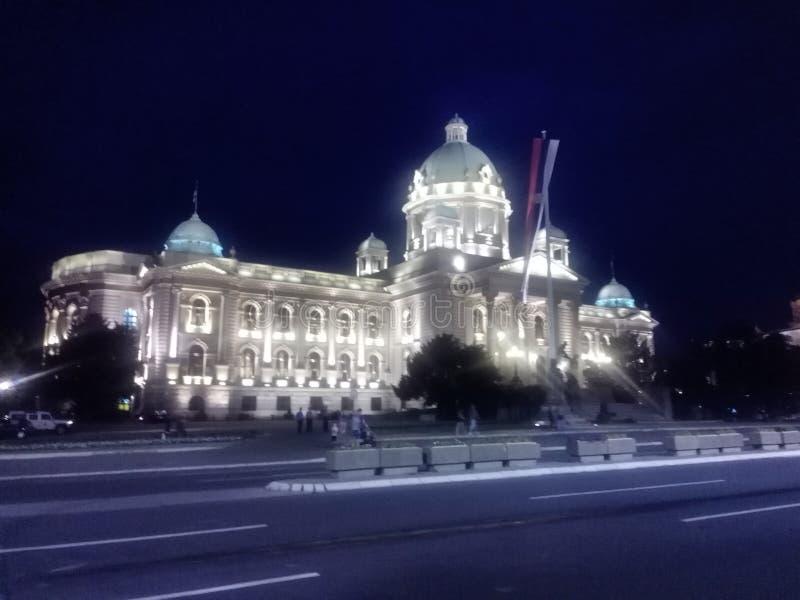 Asamblea nacional de Serbia imagen de archivo libre de regalías