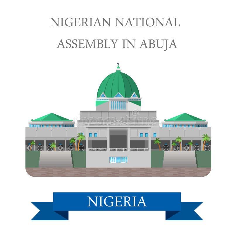 Asamblea nacional nigeriana en el vector plano IL de Abuya