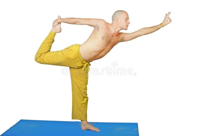 asana人nataraja位置瑜伽 库存图片