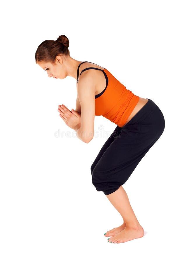 asana实践的女子瑜伽 图库摄影
