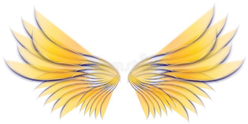 Asas 3 do pássaro ou do Fairy do anjo ilustração royalty free