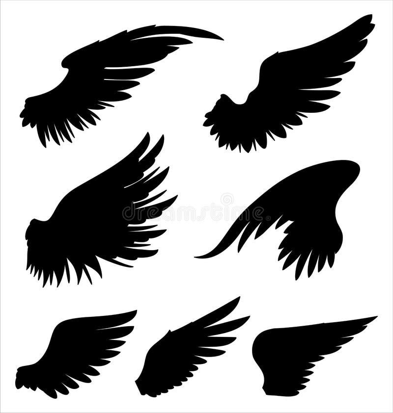 asas ilustração stock