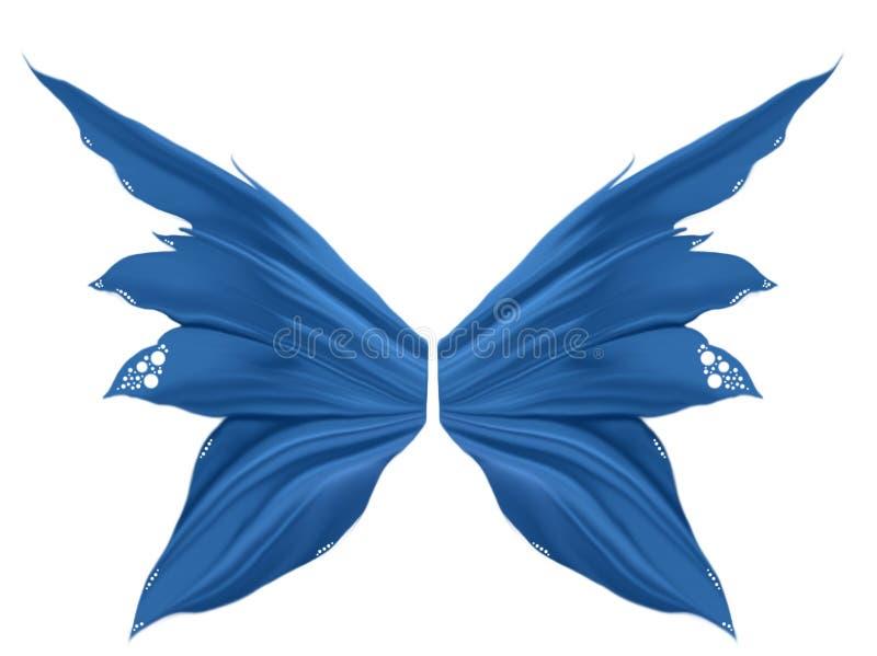 Asas azuis do país das fadas ilustração do vetor