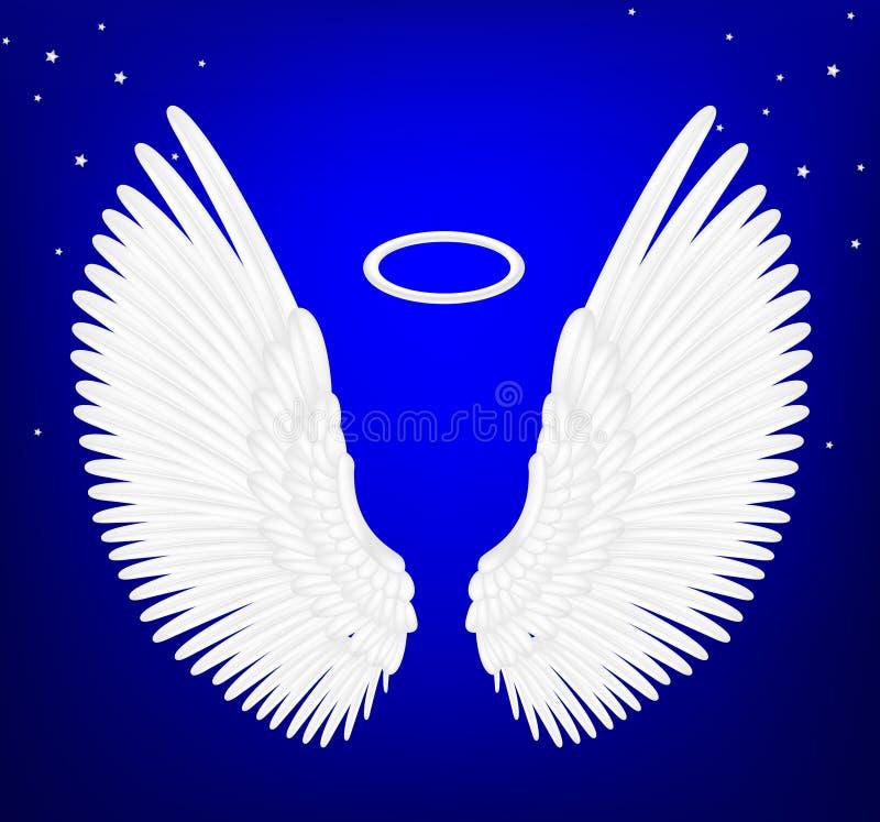 Asas brancas do anjo ilustração royalty free