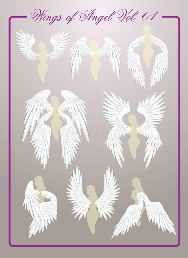 Asas de Angel Vol 01 ilustração do vetor