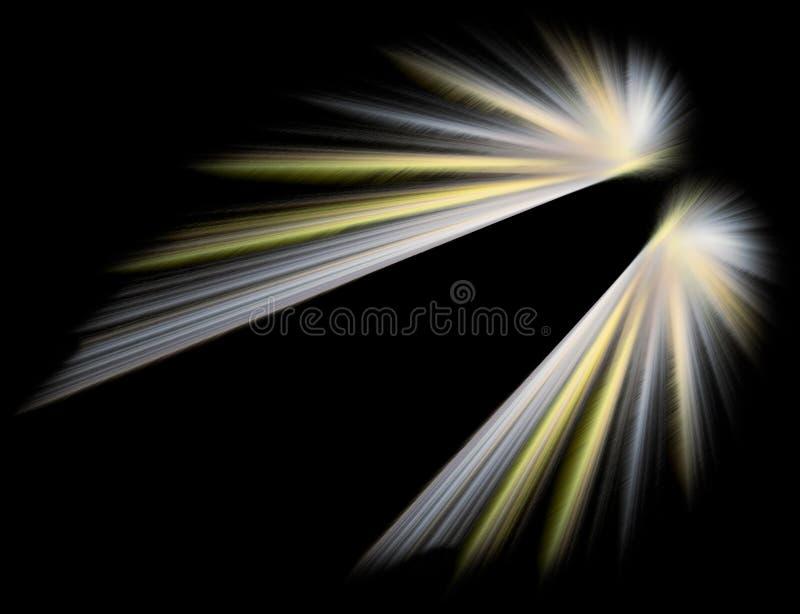 Asas de brilho do anjo ilustração do vetor