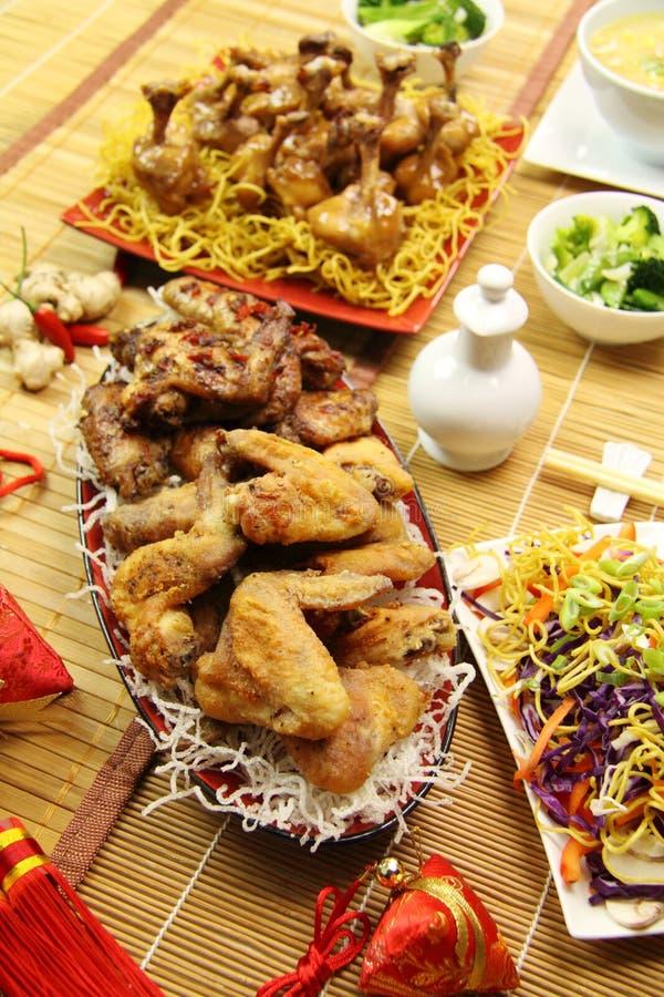 Asas de galinha chinesas foto de stock