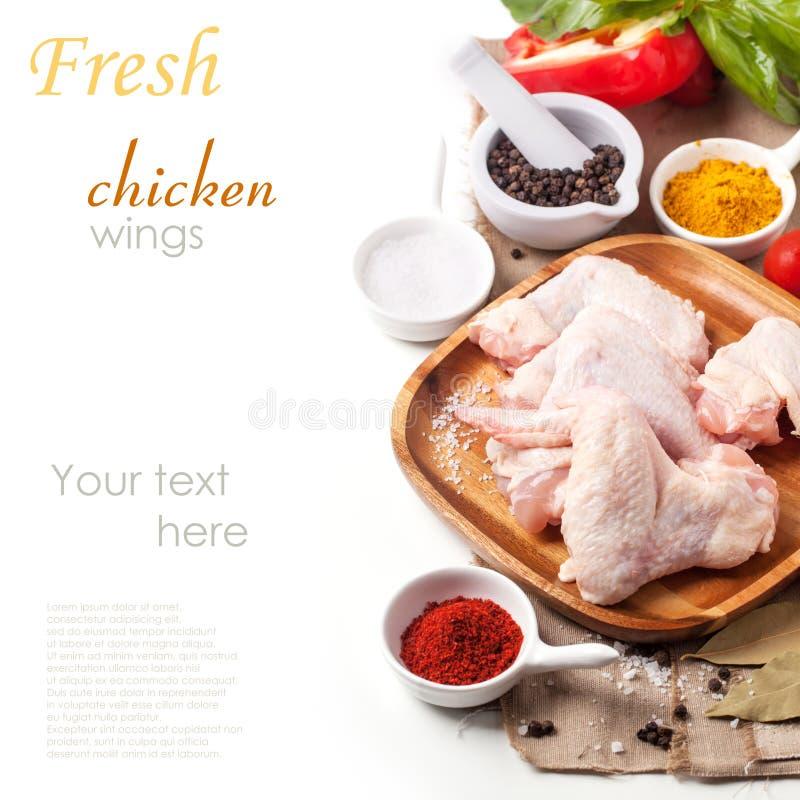 Asas de galinha cruas foto de stock royalty free