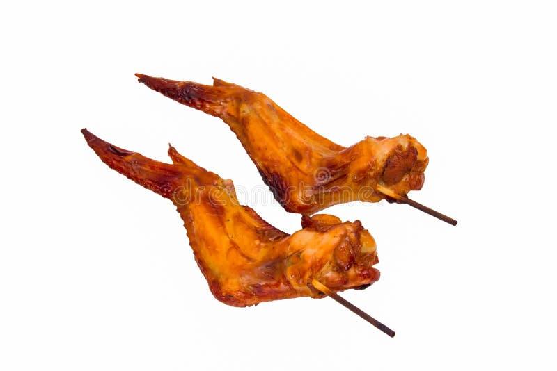 Asas de galinha grelhadas imagem de stock