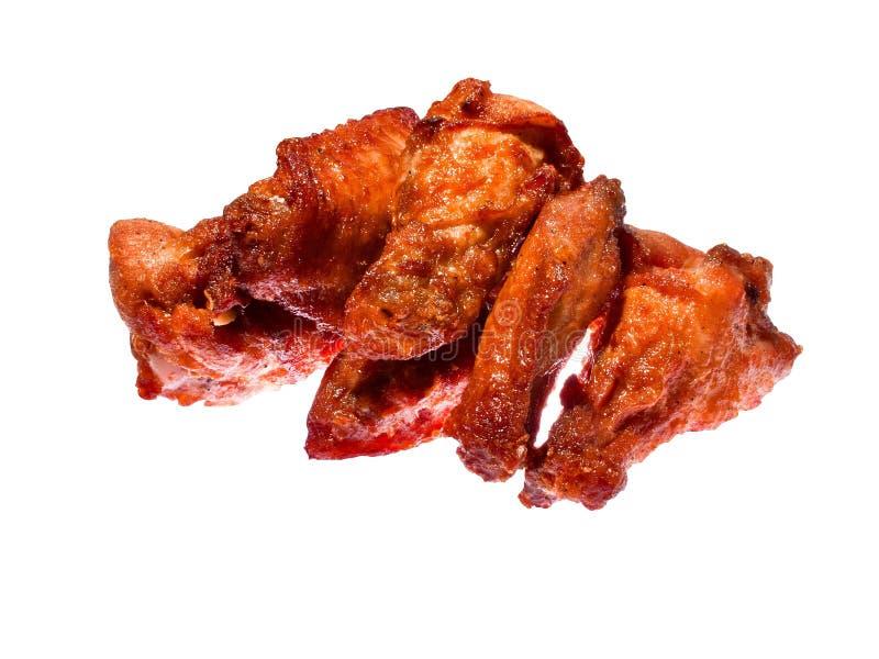Asas de galinha picantes fotografia de stock royalty free