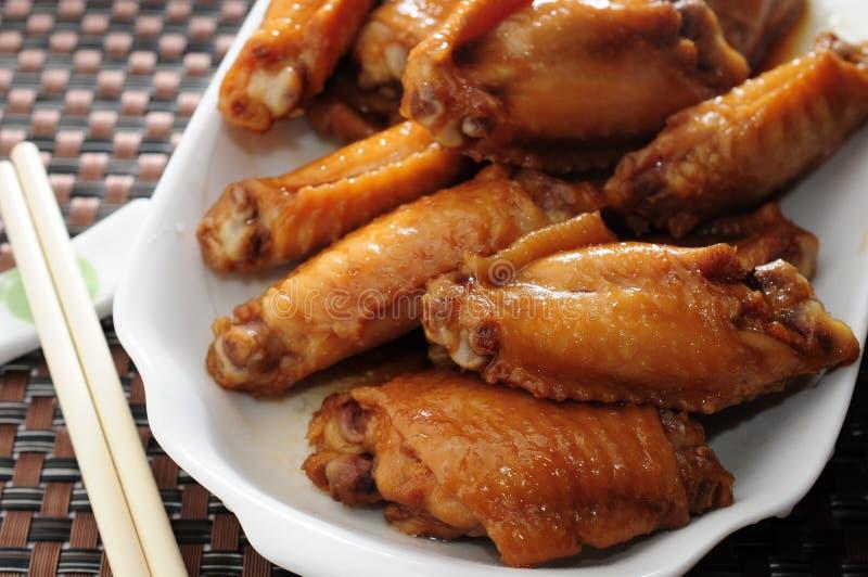 Asas de galinha picantes fotos de stock