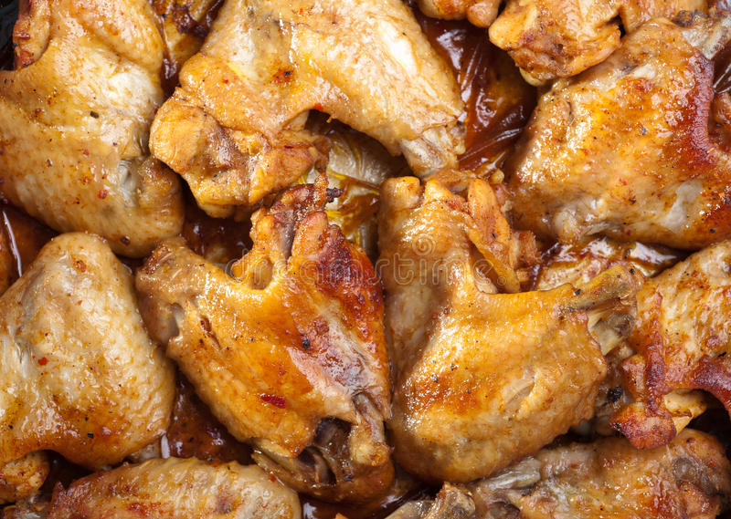 Asas de galinha Roasted imagem de stock royalty free