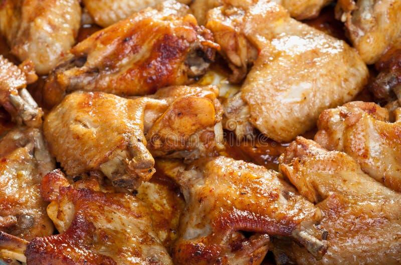 Asas de galinha Roasted fotos de stock