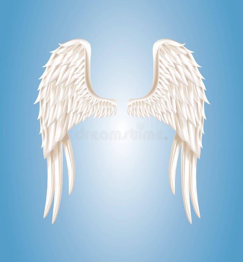 Asas do anjo ilustração royalty free