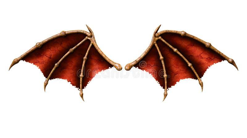 Asas do diabo, asa do demônio ilustração do vetor