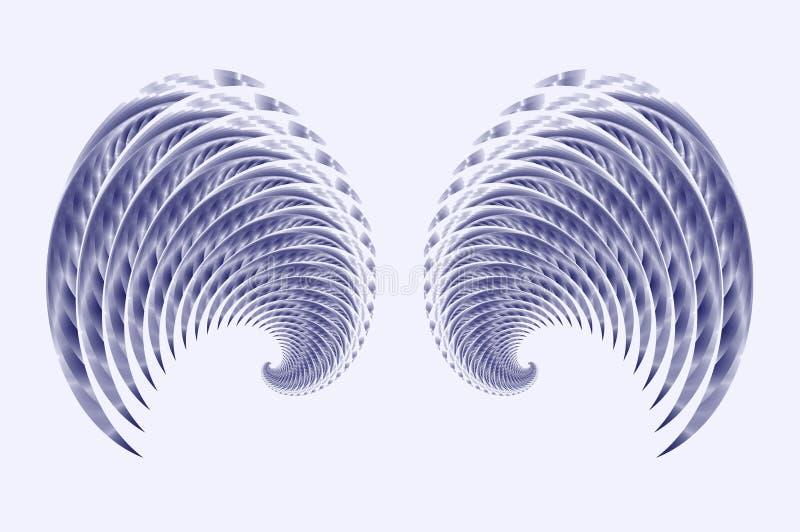 Asas do Fairy ou do pássaro do anjo   ilustração royalty free
