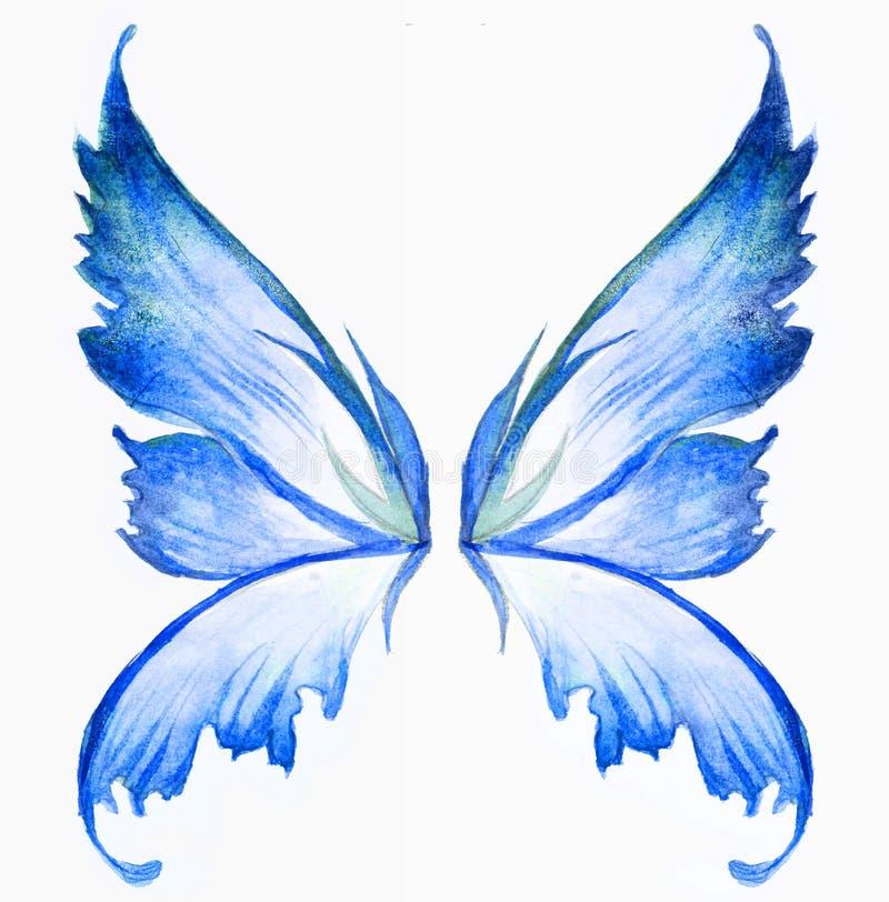 Asas feericamente azuis ilustração do vetor