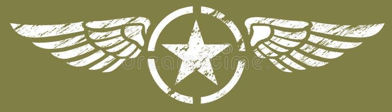 Asas militares ilustração do vetor