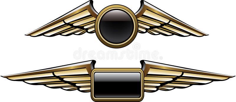 Asas piloto ilustração do vetor