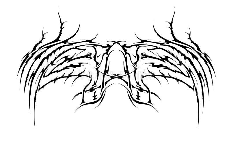 Asas tribais   ilustração do vetor