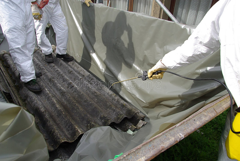 Asbest 02 stock afbeeldingen