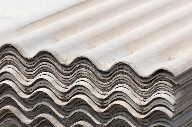 Asbestos board. Corrugated asbestos board, covering slate roof slate royalty free stock photos