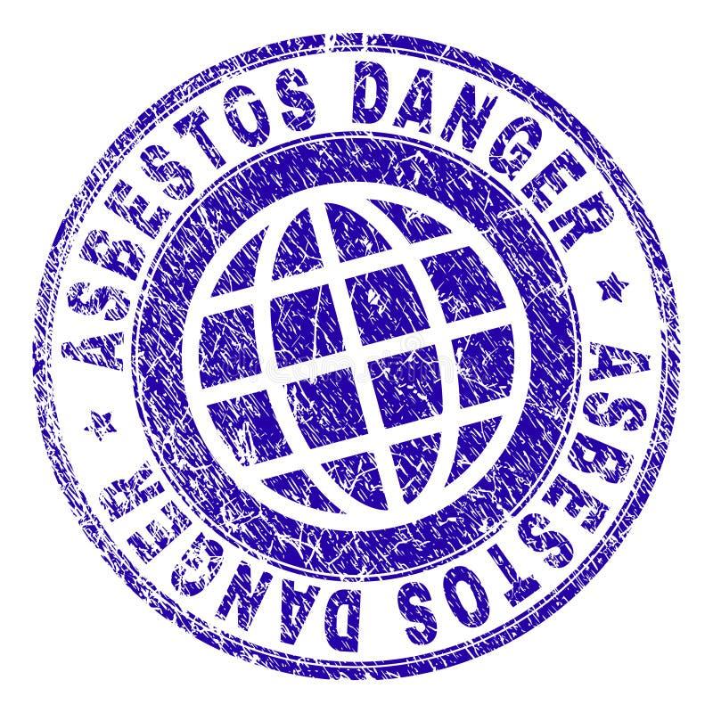 Grunge Textured ASBESTOS DANGER Stamp Seal stock illustration