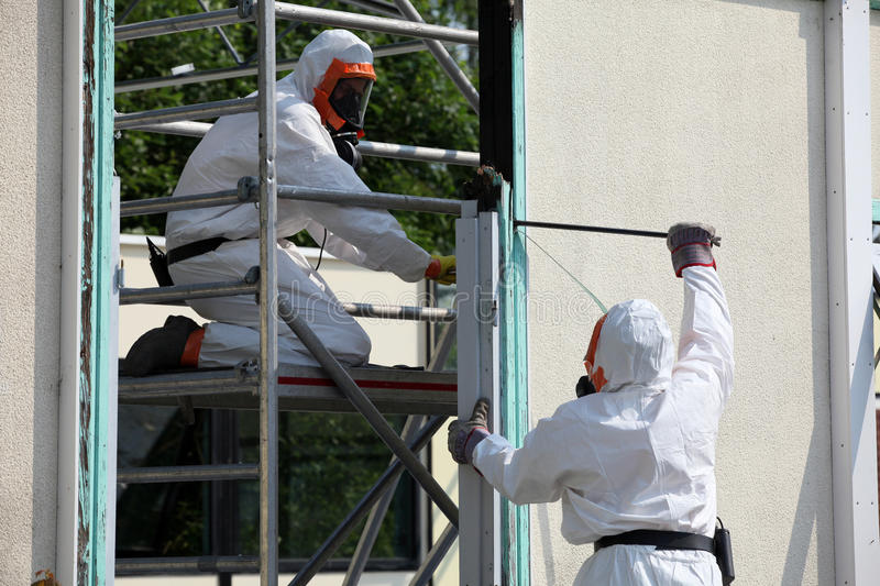 Asbestos removal stock photography
