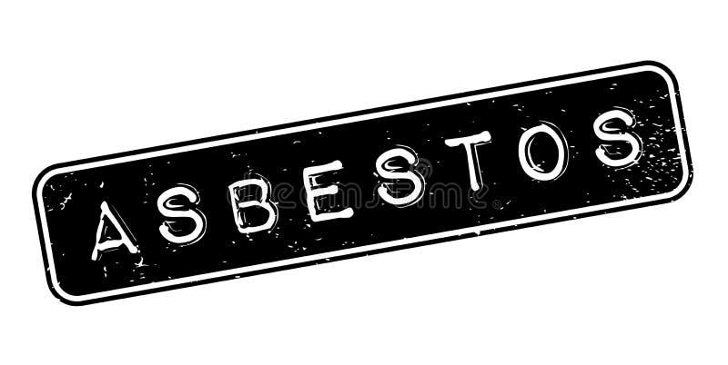 Asbestos rubber stamp stock illustration