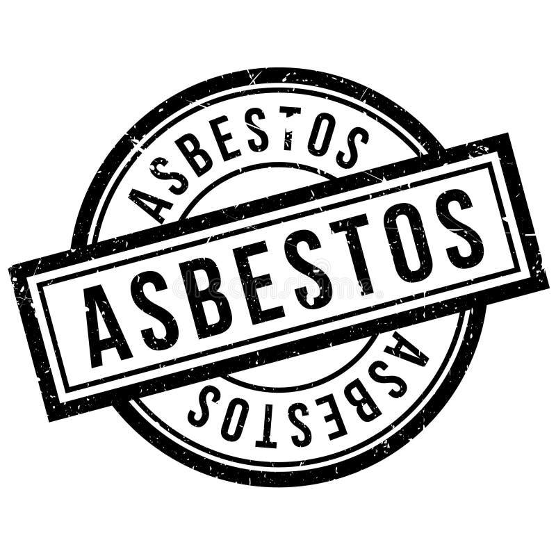Asbestos rubber stamp royalty free illustration
